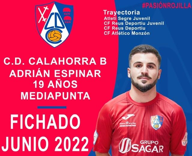 Adrián Espinar, nuevo fichaje del CD Calahorra