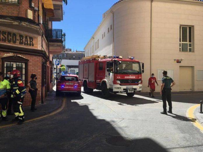 Incendio en la calle teatro