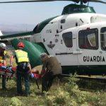 evacuación en helicóptero de la Guardia Civil