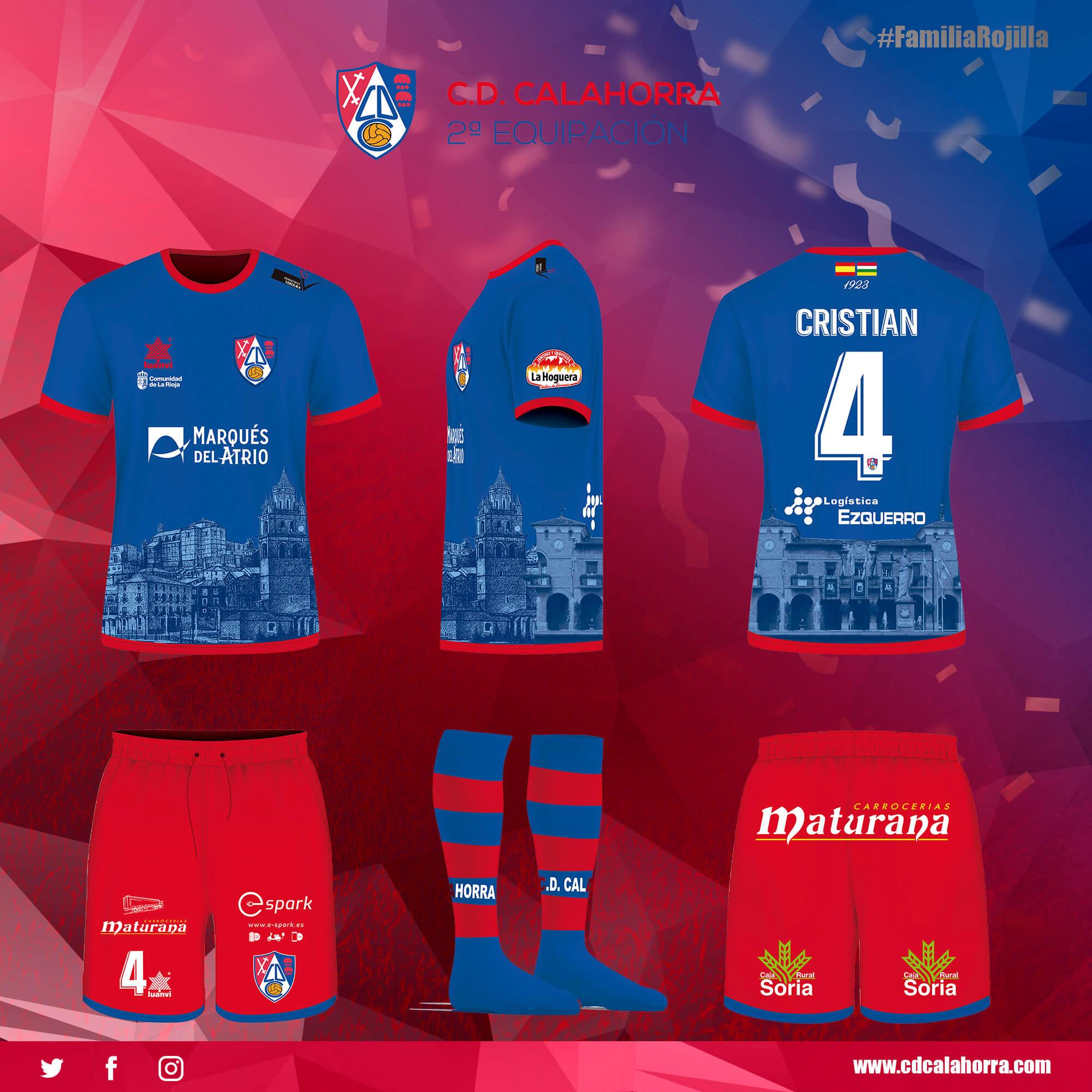 Segundo equipamiento CD Calahorra Temporada 2020/21