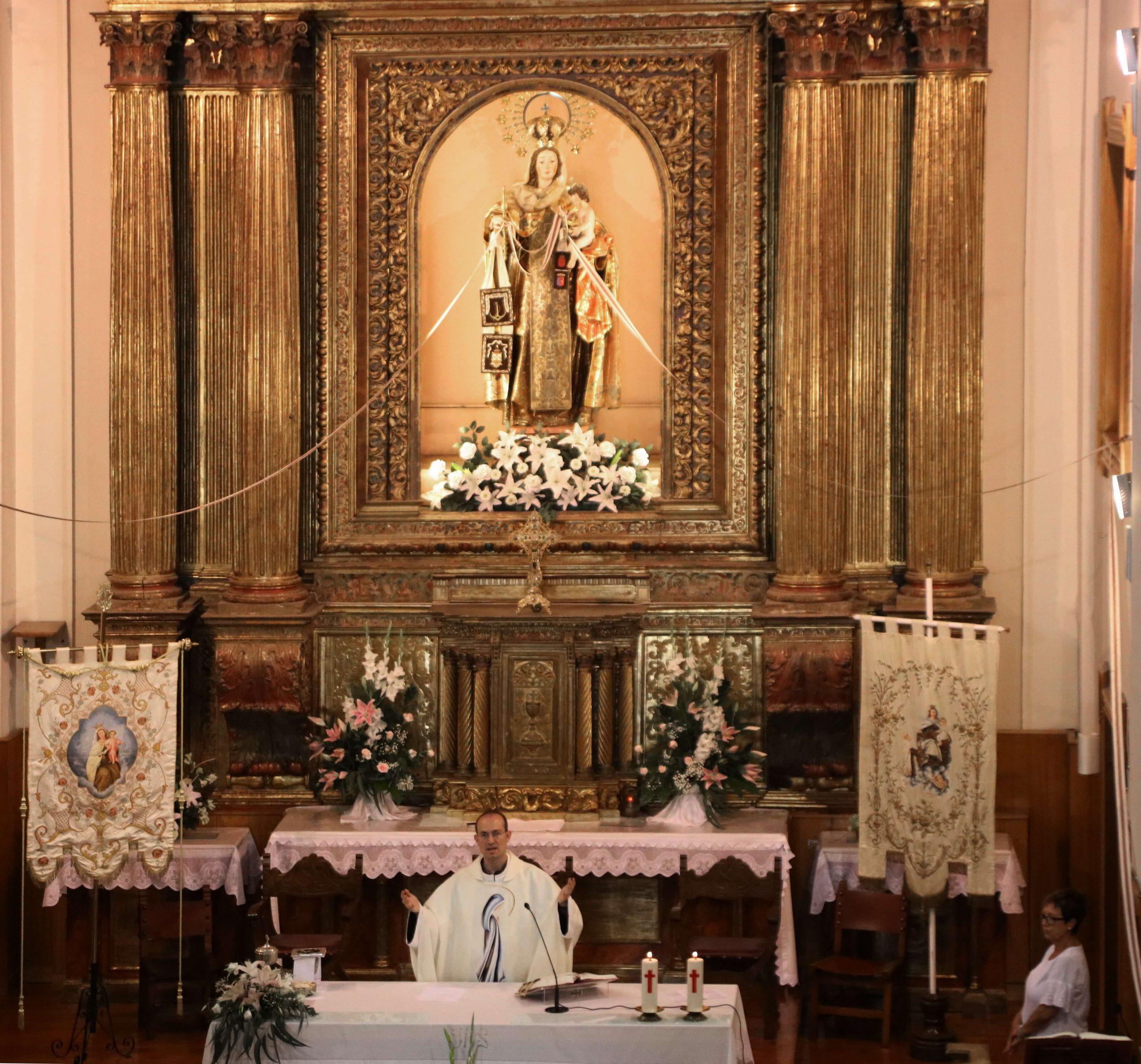 misa en el Santuario del Carmen