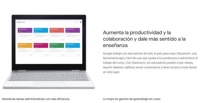 pantalla de Classroom