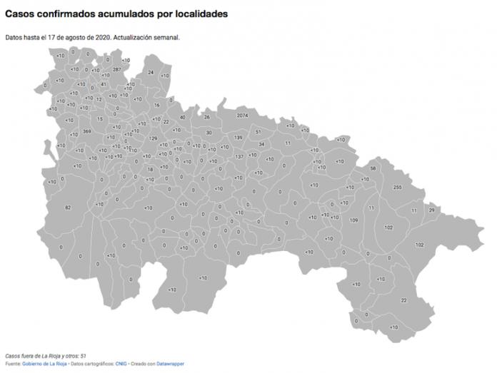 Mapa de incidencia de Coronavirus