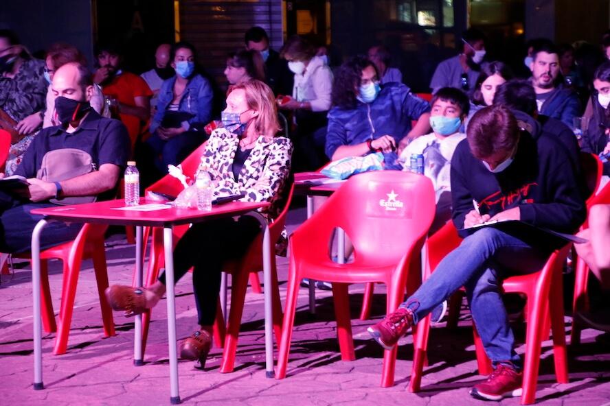 terrazas junto a Cafetín festival cortos