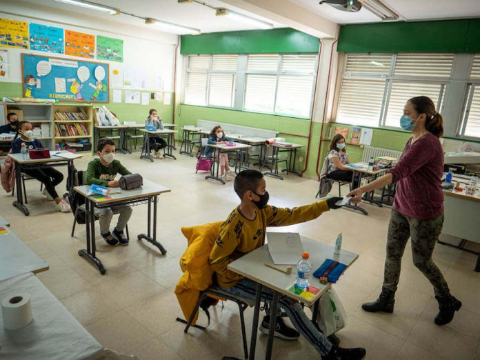 mascarillas en las aulas