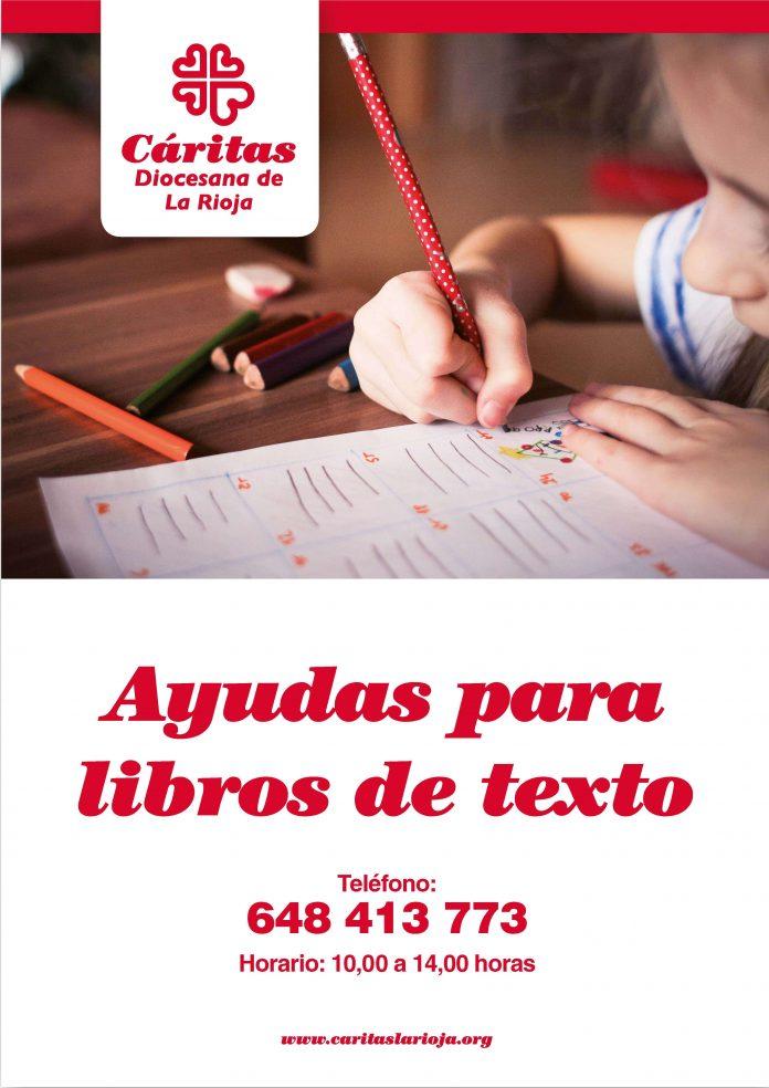 Ayudas a libros de texto de Cáritas La Rioja