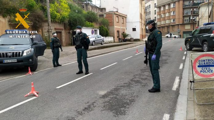 control guardia civil pandemia