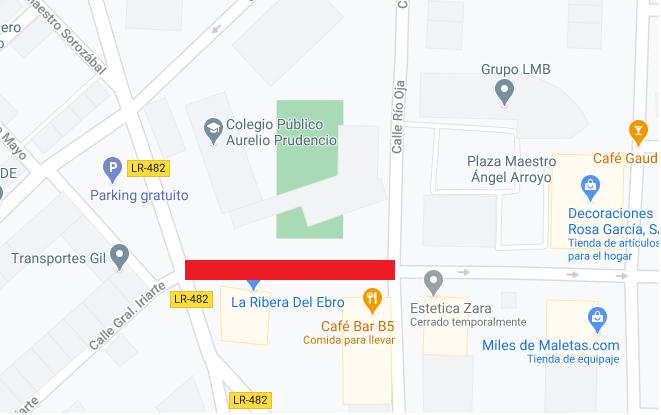 corte de tráfico en C: Río Iregua