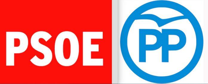logos PSOE y PP