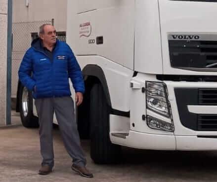 Angel Lloreda, camionero