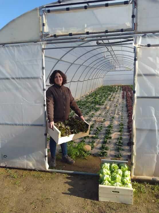 Ana Ladrón. Agricultora ecológica de ARAG-ASAJA