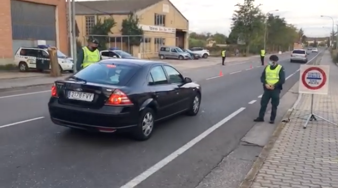 control carretera de Logroño