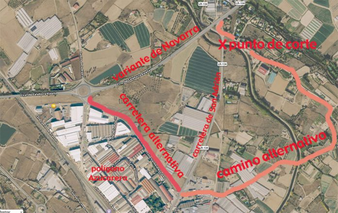 pasos alternativos carretera San Adrián