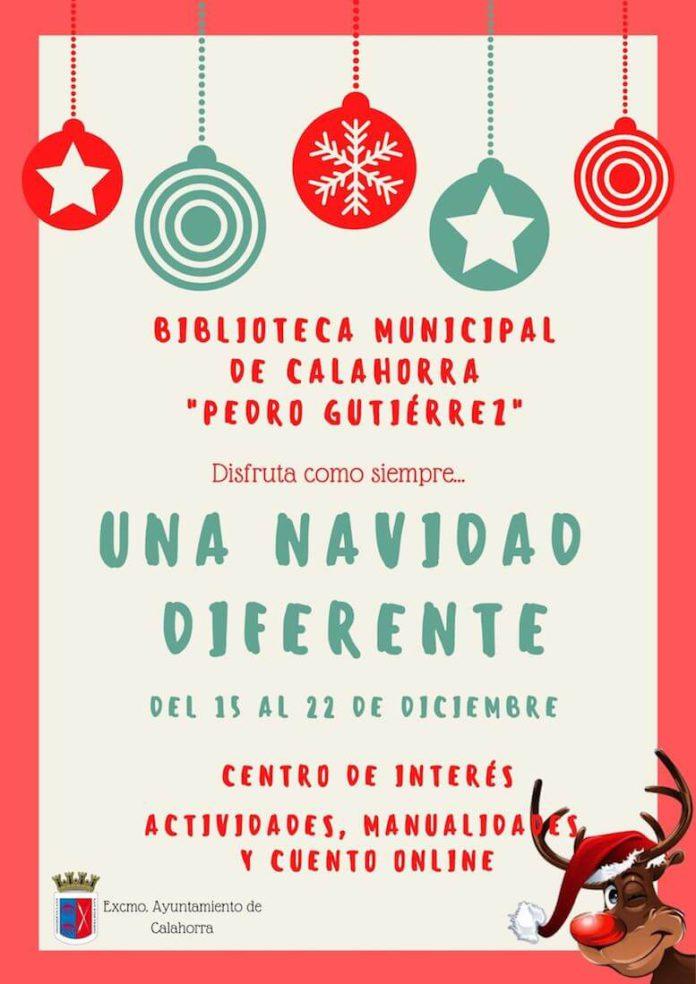 cartel programa navidad biblioteca