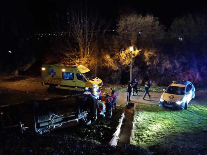 accidente parque Víctimas del Terrorismo