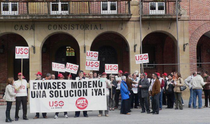 manifestación Envases Metálicos Riojanos abril 2009