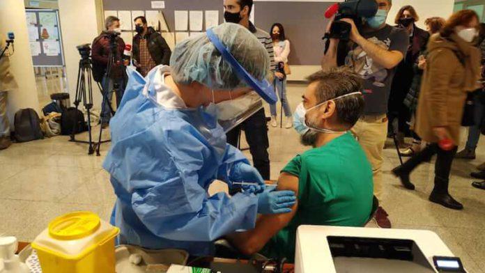 vacunación personal Hospital San Pedro 1
