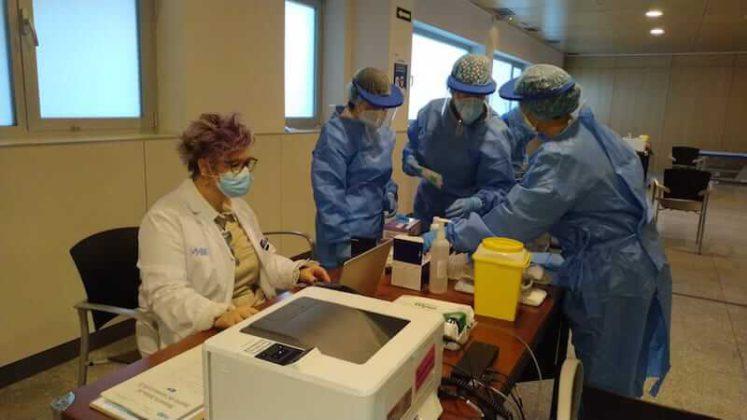 vacunación personal Hospital San Pedro 3