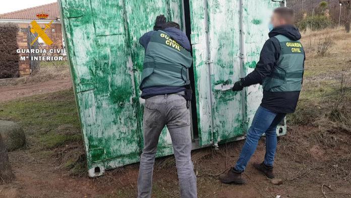 detenido robo contenedores