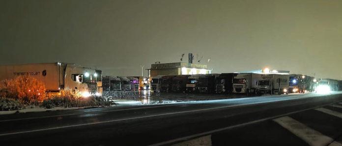 embolsamiento de camiones en El Recuenco