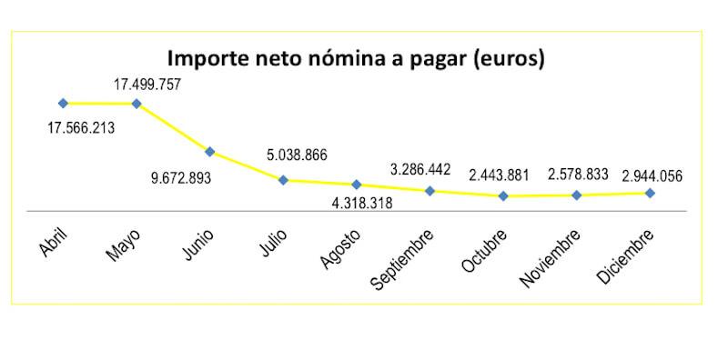 importes netos por ERTES 2020