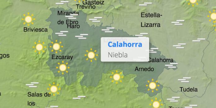 mapa nieblas valle Ebro 18-1-2021
