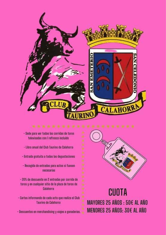 club taurino folleto