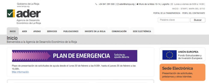 web ADER plan emergencia