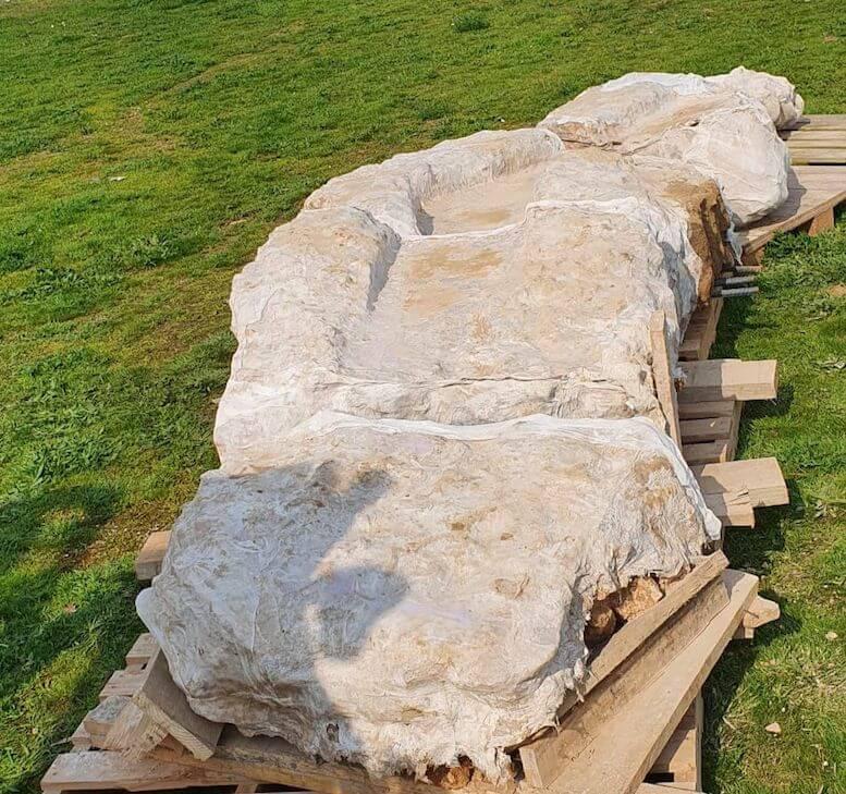 canalización romana hallada en calle Eras