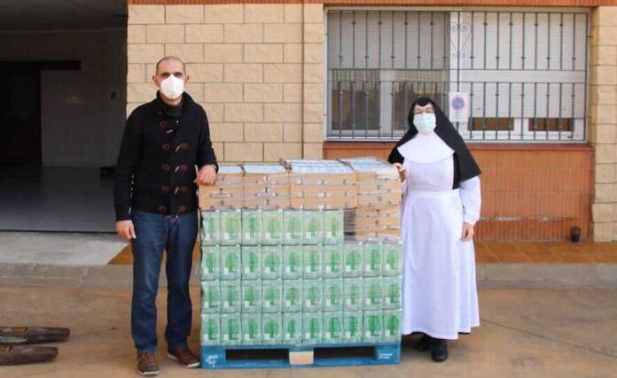 entrega lácteos vera cruz asilo