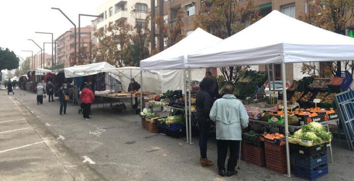 mercado tradicional del jueves en Achútegui de Blas