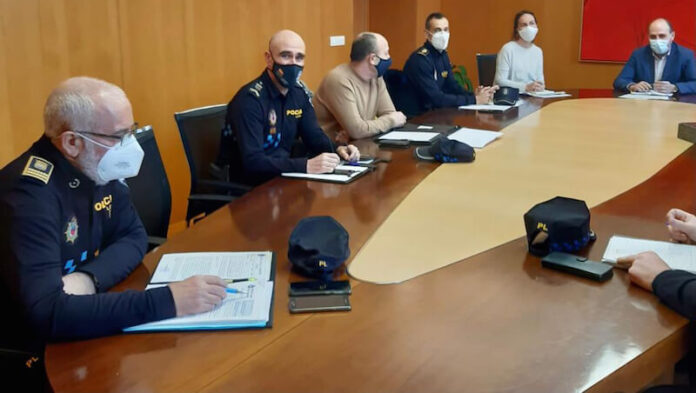 reunión Policías Locales en Dirección General de Justicia e Interior copia