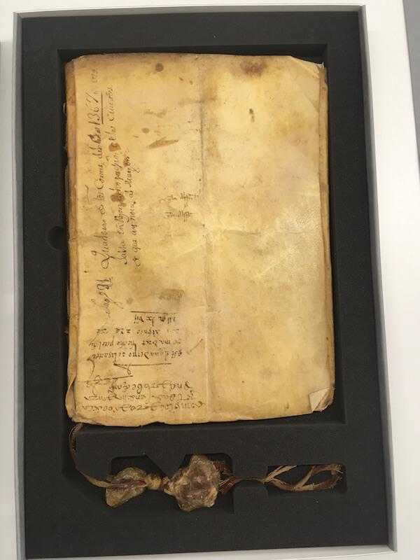 cuaderno de cortes de 1329