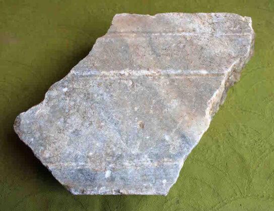fragmento mármol cloaca romana copia