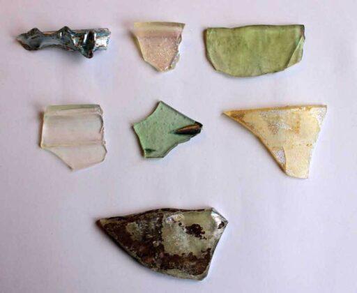 fragmentos vidrio cloaca romana copia