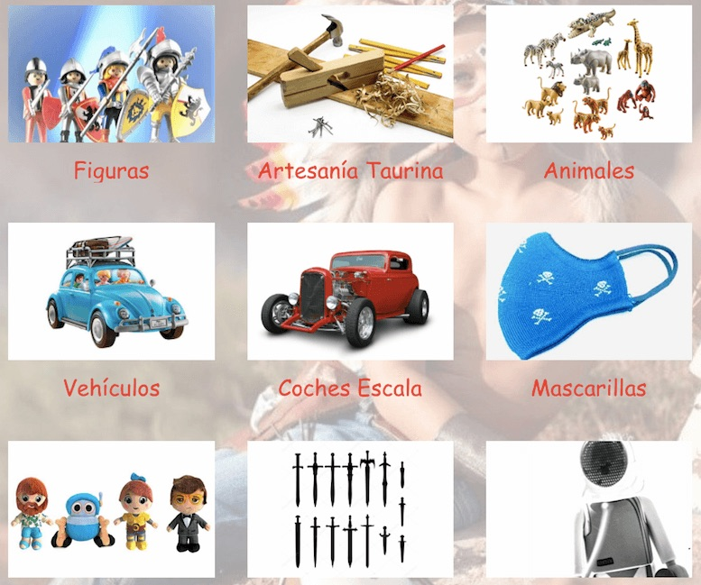 juguetes varios