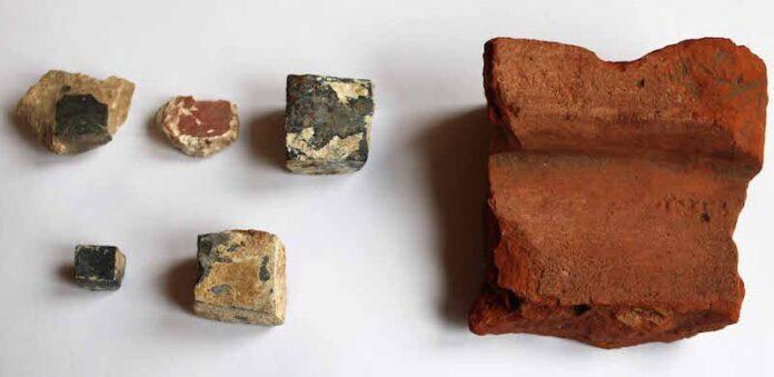 materiales de construcción cloaca romana copia