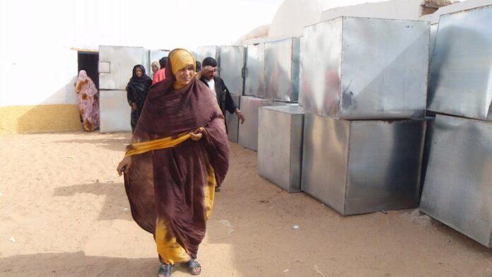 depósitos de agua para saharauis
