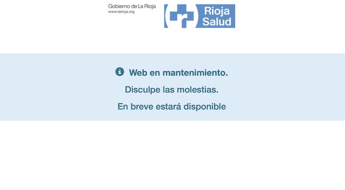 AUTOCITA web en mantenimiento