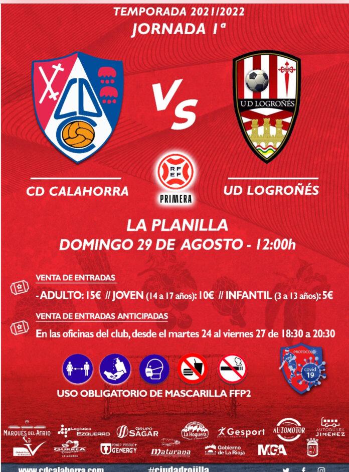 Cartel partido CD Calahorra-UD Logroñés