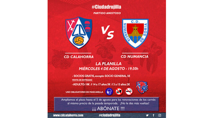 Cartel partido CD Calahorra-CD Numancia