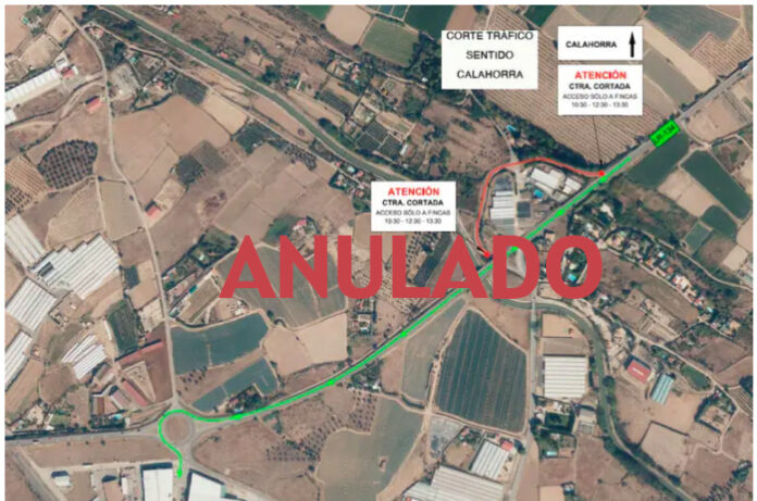 anulan corte carretera San Adrián