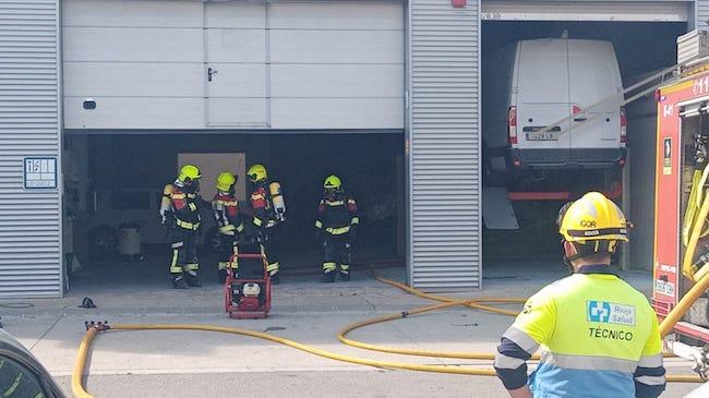 bomberos incendio renault