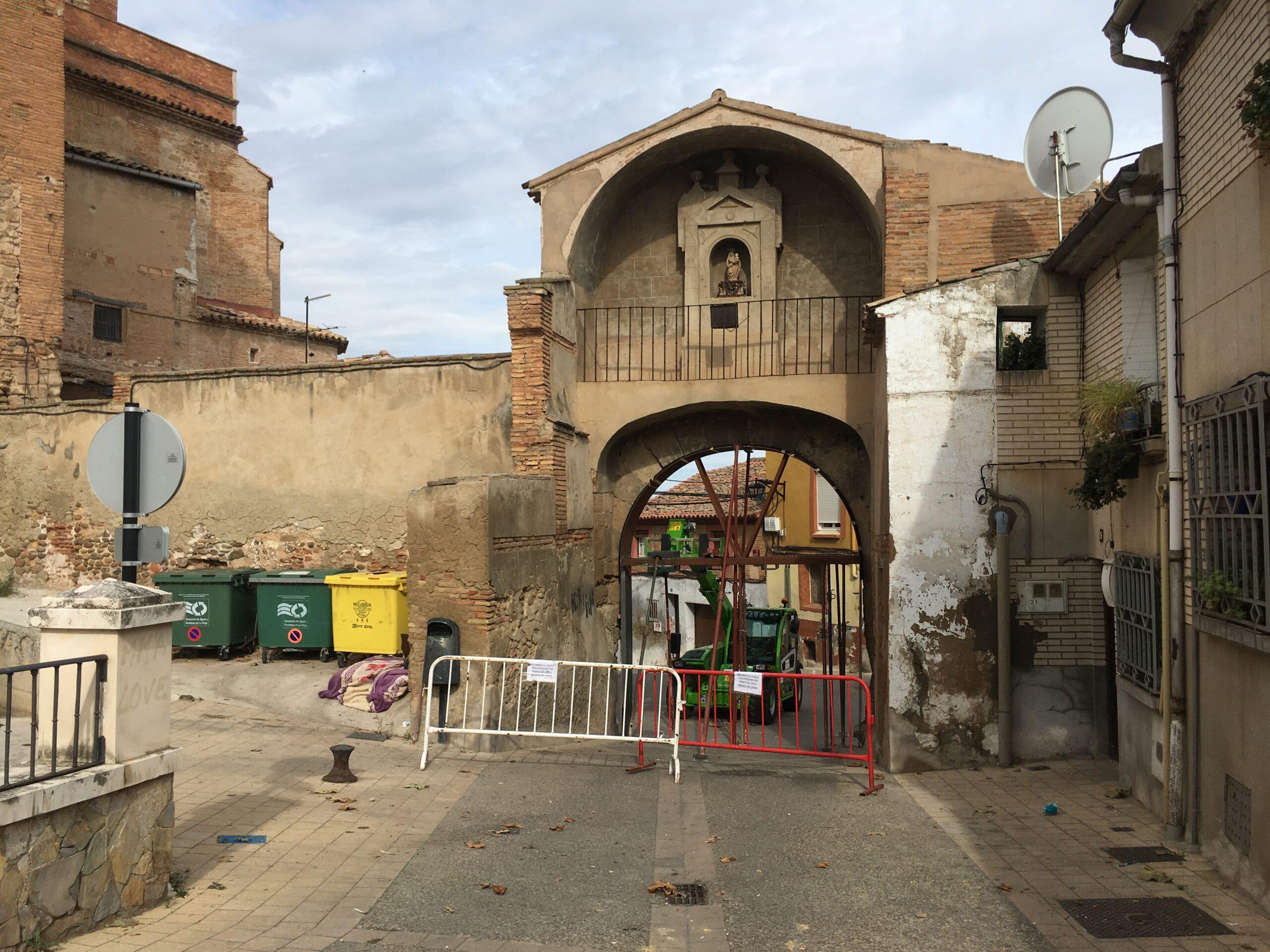 obras arco del Panillo de San Andrés 1