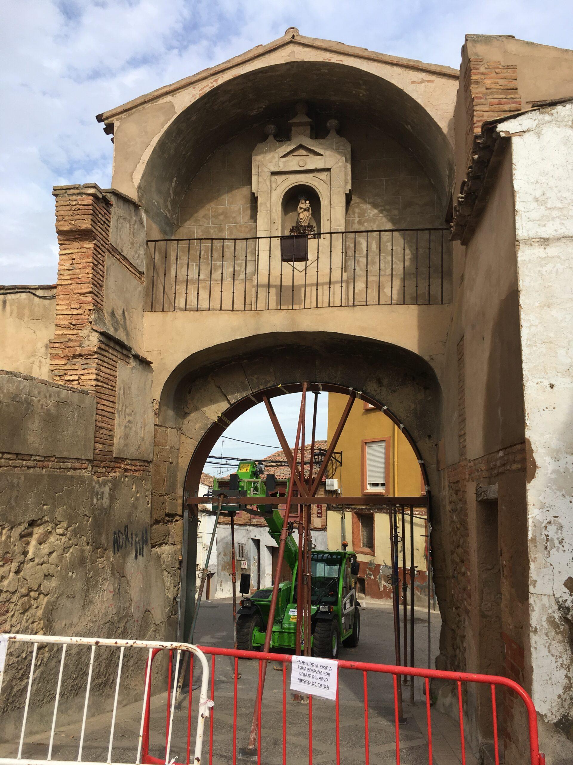 obras arco del Panillo de San Andrés 2