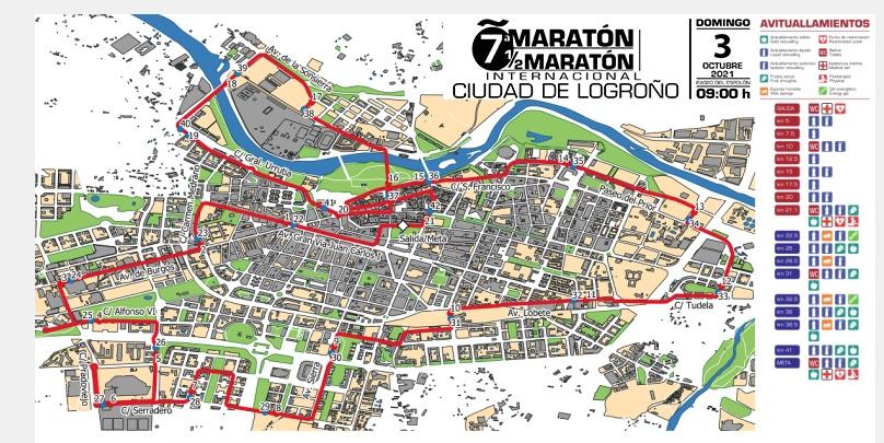 Maratón media maratón y 10K Logroño