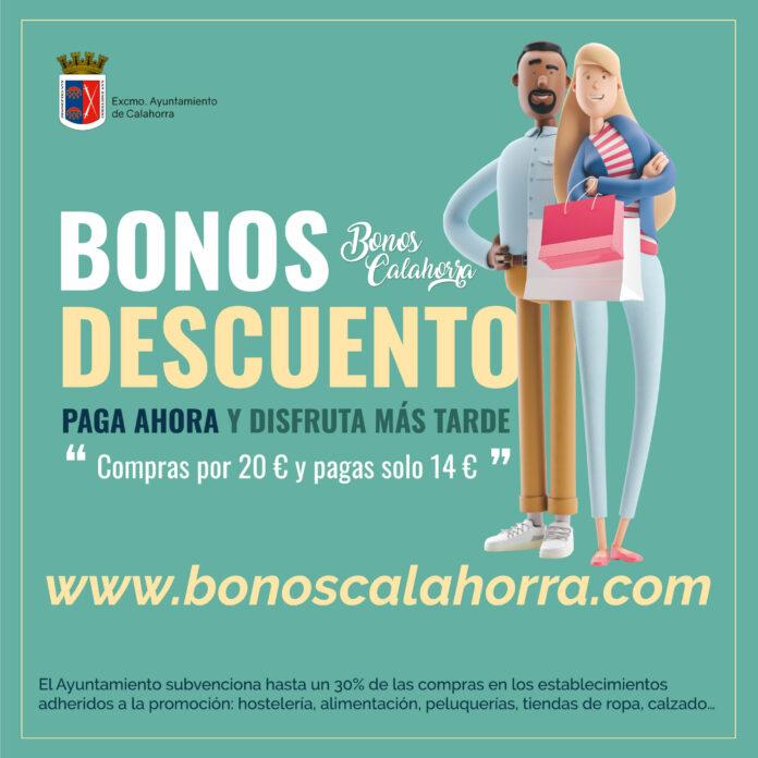 cartel campaña Bonos Calahorra octubre 2021