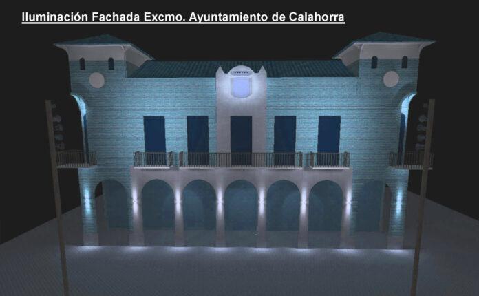 iluminación Casa Consistorial azul turquesa copia